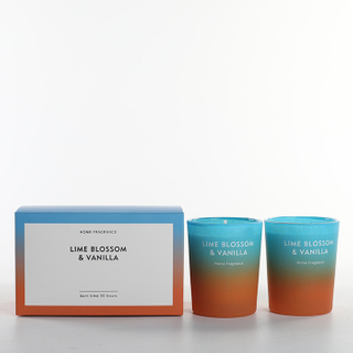 As Simple As Color Collection Lime Blossom & Vanilla Scented Candle Set