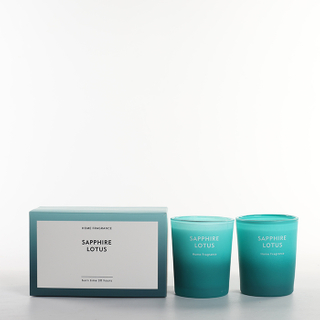 As Simple As Color Collection Sapphire Lotus Scented Candle Set