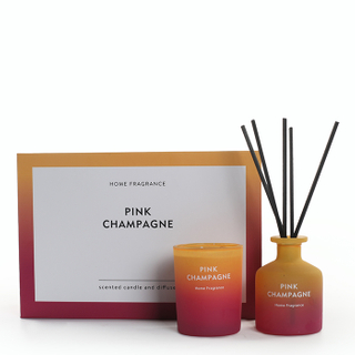 As Simple As Color Collection Pink Champagne 60g Scented Candle and 50ml Reed Diffuser Set