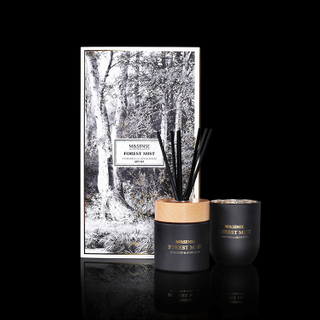 Forest Mist Everyreen & Silver Birch 250g Scented Candle And 200ml Reed Diffuser Gift Set
